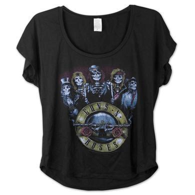 Guns N' Roses Skeleton Circle Women's Dolman Shirt
