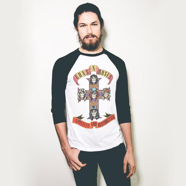 Guns N' Roses APPETITE CROSS RAGLAN