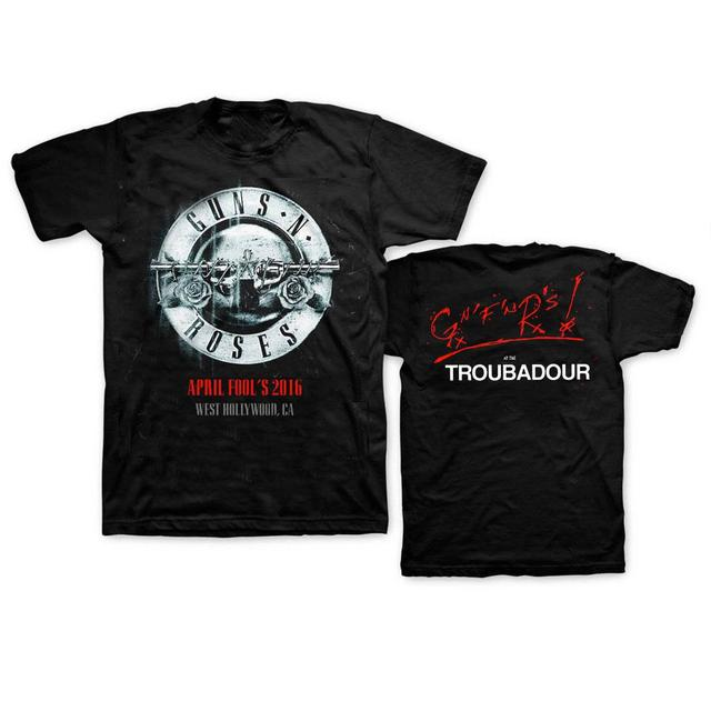 Guns N' Roses GnR April Fool's Troubadour Tee