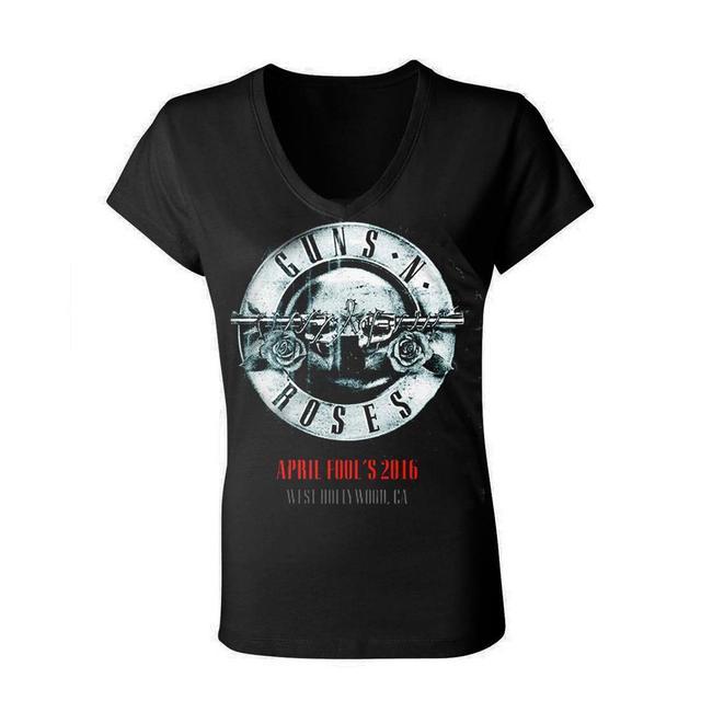 Guns N' Roses GnR April Fool's Troubadour Woman's Tee