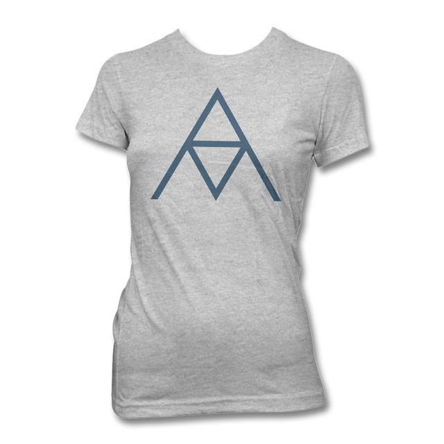 Alanis Morissette AM Logo T-shirt - Women's (Heather Silver)