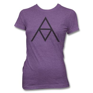Alanis Morissette AM Logo T-shirt - Women's (Heather Purple)