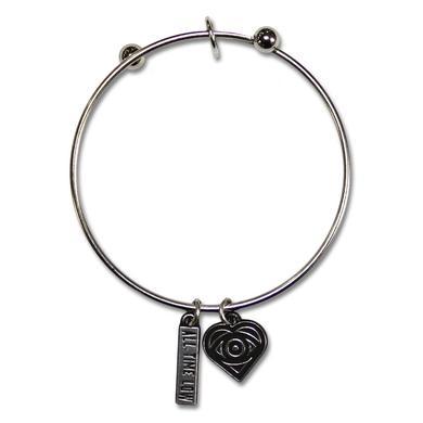 All Time Low Heart Eye Charm Bracelet