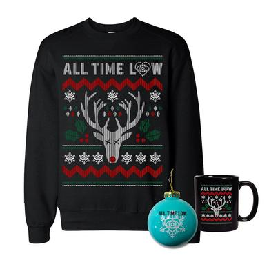 All Time Low Sweatshirt, Mug, & Ornament Holiday Bundle