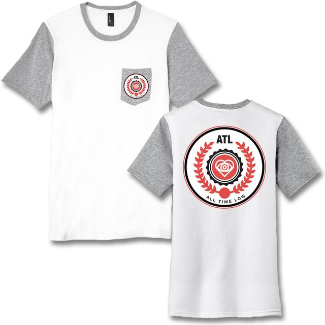 All Time Low Emblem Pocket T-shirt - (White)