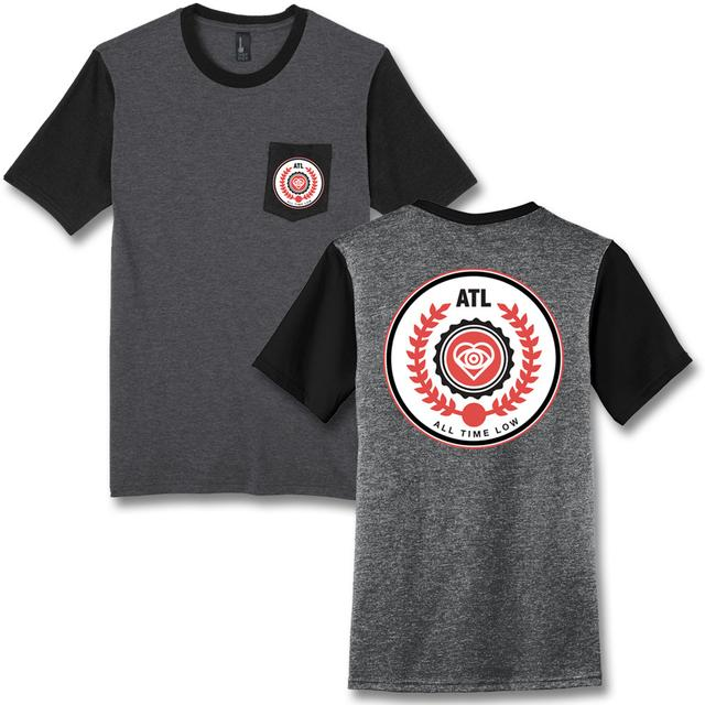 All Time Low Emblem Pocket T-shirt - (Heather Charcoal)