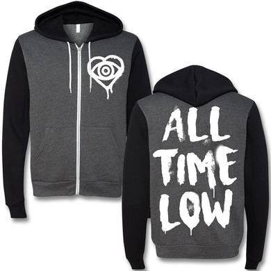 All Time Low Paint Brush Zip Hoodie
