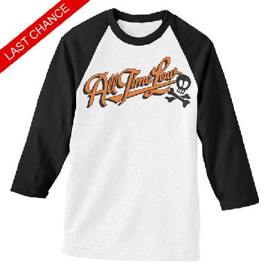 All Time Low Batter Up Baseball Tee