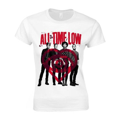 All Time Low Red Logo Ladies T-shirt