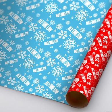 All Time Low Santa Skull Wrapping Paper