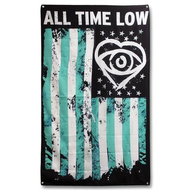 All Time Low Heart Eye American Flag