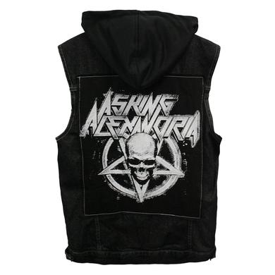 Asking Alexandria Death Metal Hooded Denim Vest