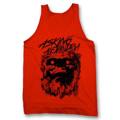 Asking Alexandria Scratch Skull Tank Top - Red