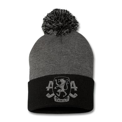Asking Alexandria Embroidered Family Crest Pom Beanie