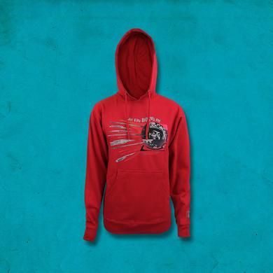 At The Drive-In Sputnik Pullover Hoodie - Red