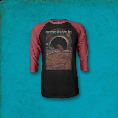 At The Drive-In Vulture Raglan - Black/Red