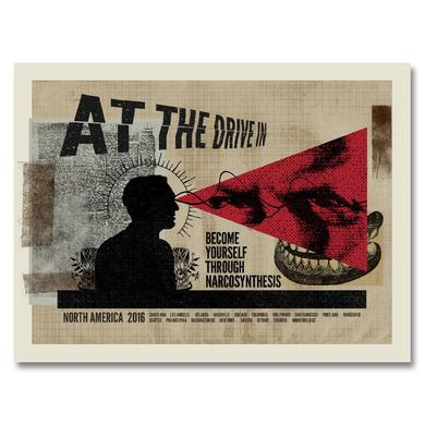 At The Drive-In Narco Screen Printed Tour Poster