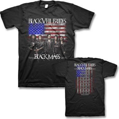 Black Veil Brides Black Mass 2015 U.S. Tour T-shirt