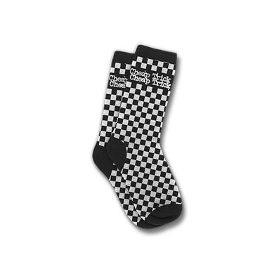 Cheap Trick Checkered Logo Socks