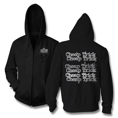 Cheap Trick Badge Zip Up Hoodie