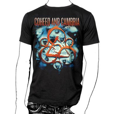 Coheed and Cambria Faces With Dates T-Shirt