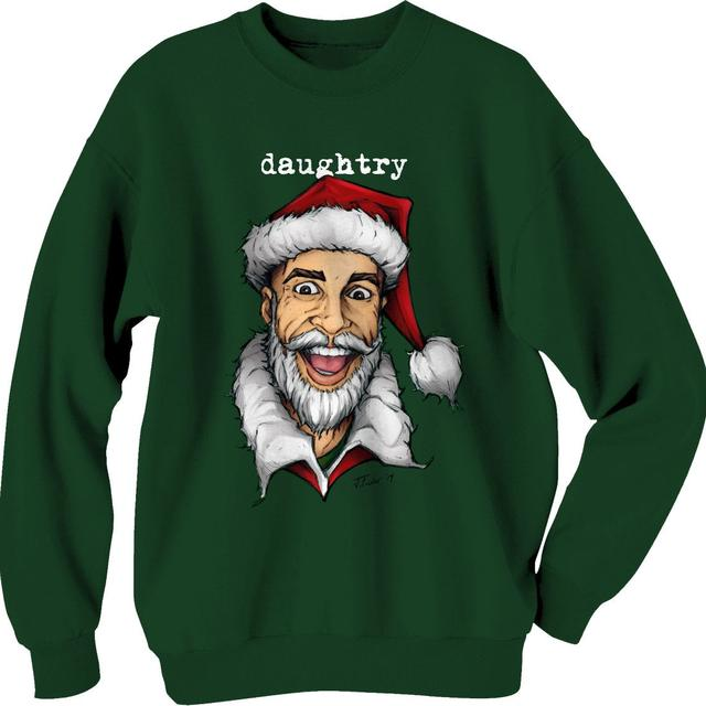 Daughtry Santa Green Holiday Sweater