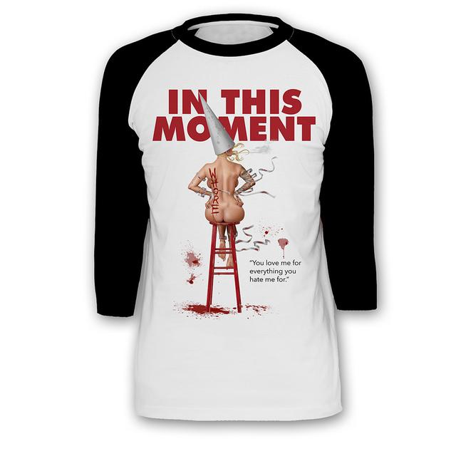 In This Moment Nude Whore Baseball Tee