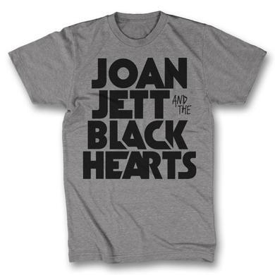 Joan Jett & The Blackhearts Retro Type T-Shirt - Heather Grey