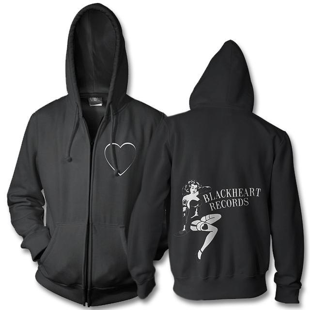 Joan Jett & The Blackhearts Pin Up Logo Zip Up Hoodie