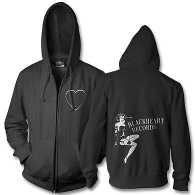 Joan Jett & The Blackhearts Pin Up Logo Zip Up Hoodie