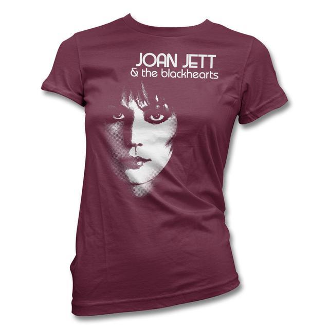 Joan Jett & The Blackhearts Close Up T-shirt (Maroon) - Women's