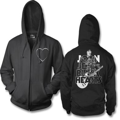 Joan Jett & The Blackhearts Retro Type Zip Hoodie