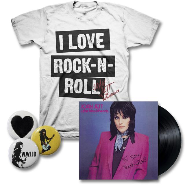 I Love Rock 'N' Roll T-shirt + LP + Joan Jett + FREE Button Pack