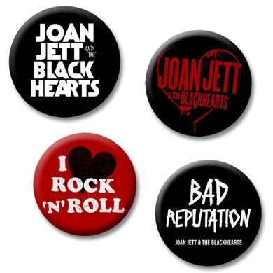 Joan Jett & The Blackhearts Logo Button Pack