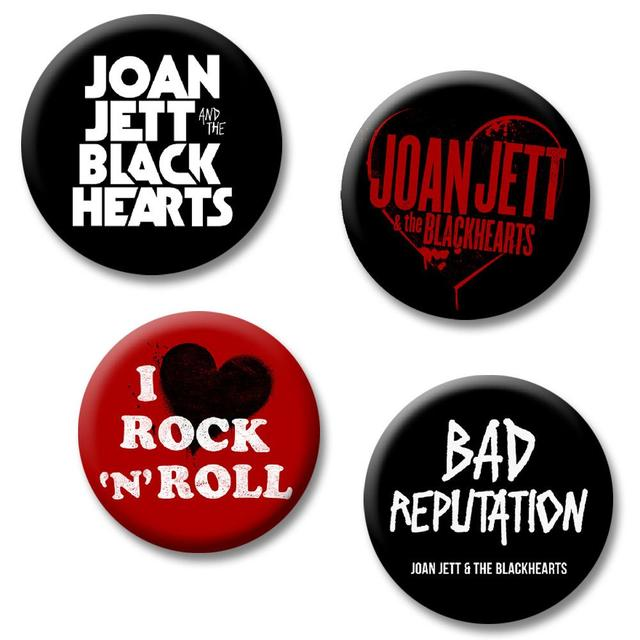 Joan Jett & The Blackhearts Logo Button Pack