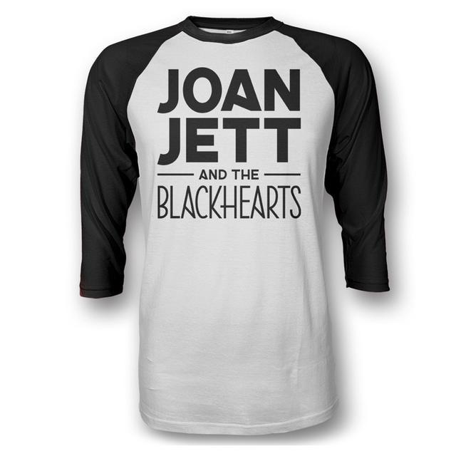 Joan Jett & The Blackhearts Black & White Logo Raglan