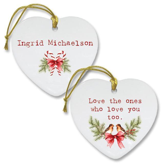 Ingrid Michaelson Happy, Happy Christmas Lyric Ornament