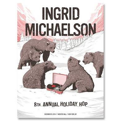Ingrid Michaelson 2014 Holiday Hop Poster