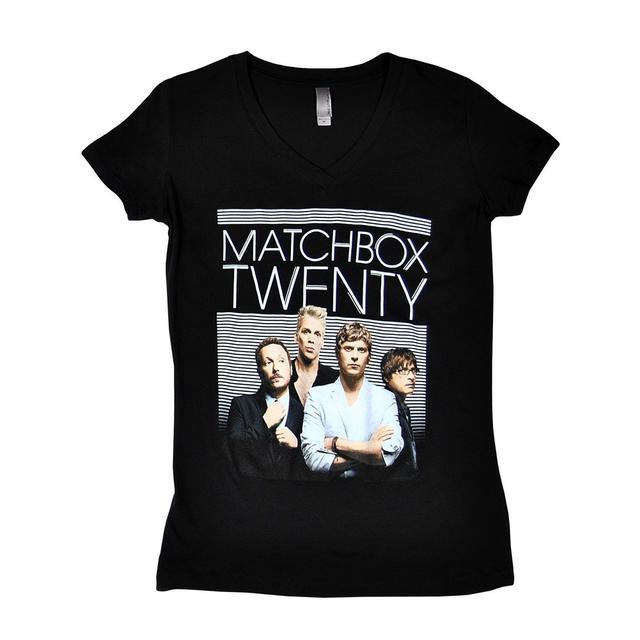 Matchbox 20 Lines Girl's V-Neck Tee
