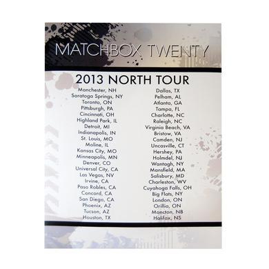 Matchbox 20 Summer 2013 US Tour Insert