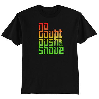 No Doubt Push and Shove Text Fade Men's Tee