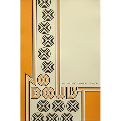 No Doubt Detroit Show Poster