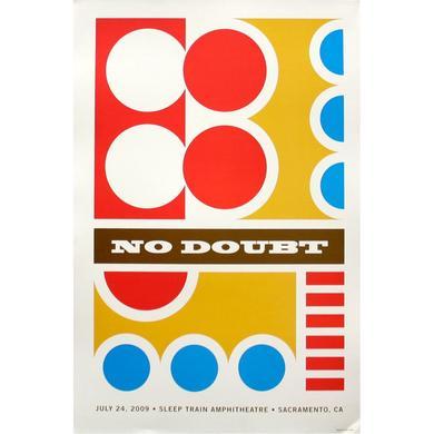 No Doubt Sacramento Show Poster