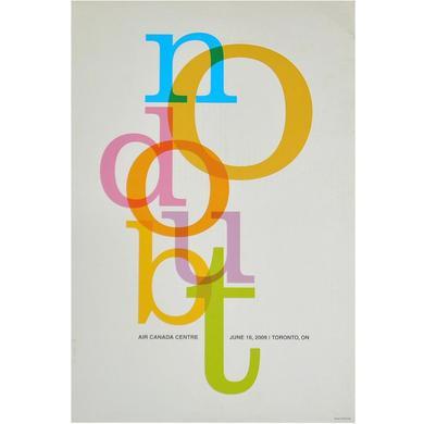 No Doubt Toronto Show Poster