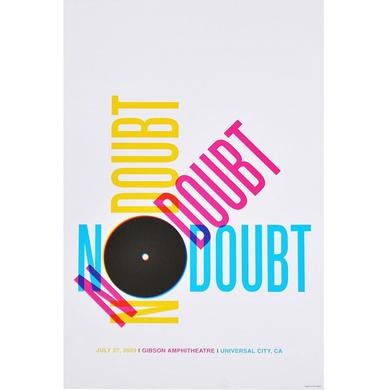 No Doubt Los Angeles Night 2 Show Poster