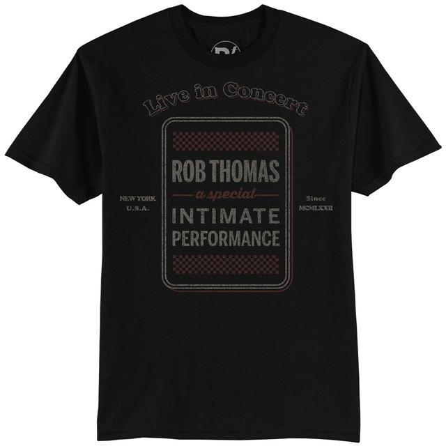 Rob Thomas Black Checkered Tour T-shirt - Men's