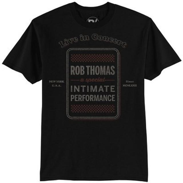 Rob Thomas Checkered Tour Men's Black T-Shirt