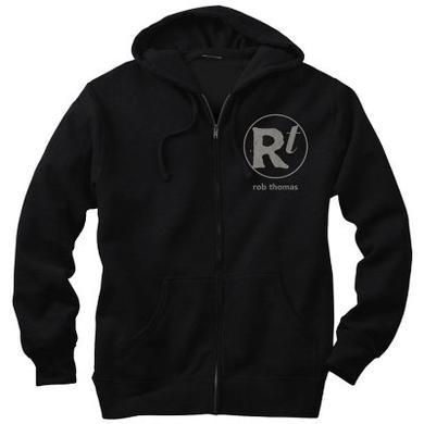 Rob Thomas Logo Black Zip Hoodie