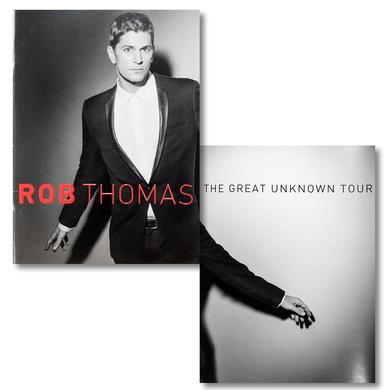 Rob Thomas The Great Unknown Tour Program