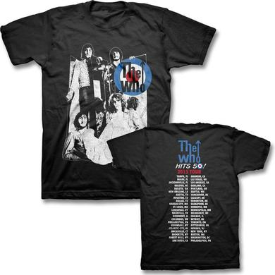 The Who Mirrors 2015 US Tour T-shirt (Black)